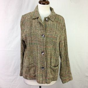 Chico's Design Multi Color Button Cardigan Sweater